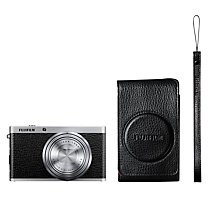 "Buy Fujifilm XF1 Digital Camera, HD 1080p, 12MP with 3"" LCD Screen with Premium Leather Case, Black Online at johnlewis.com"