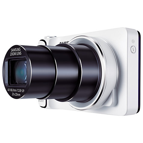 "Buy Samsung Galaxy Camera, HD 1080p, 21x Zoom, 16.3MP, Wi-Fi/3G, GPS, 4.8"" Touch Screen with FREE 3 SIM Online at johnlewis.com"