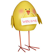 Buy John Lewis Wobbly Chick Decoration, Yellow Online at johnlewis.com