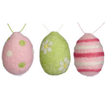 Buy John Lewis Wool Egg Decorations, Assorted Online at johnlewis.com