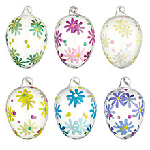 Buy John Lewis Mini Flower Glass Egg Decoration, Assorted Online at johnlewis.com