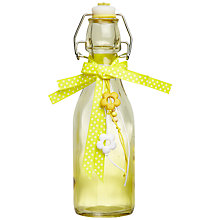 Buy John Lewis Glass Bottle, Yellow, Small Online at johnlewis.com