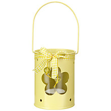Buy John Lewis Flower Tealight Lantern, Yellow Online at johnlewis.com