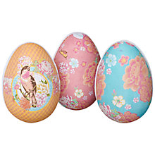 Buy John Lewis Large Paper Easter Eggs, Pink, Assorted Online at johnlewis.com