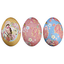 Buy John Lewis Small Paper Easter Eggs, Blue, Assorted Online at johnlewis.com