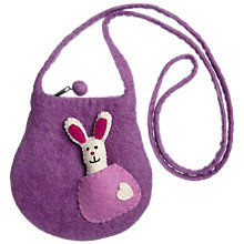 Buy Felt So Good Felt Bag with Bunny Finger Puppet, Purple Online at johnlewis.com