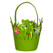 Buy John Lewis Felt Lady Bird Basket, Green Online at johnlewis.com