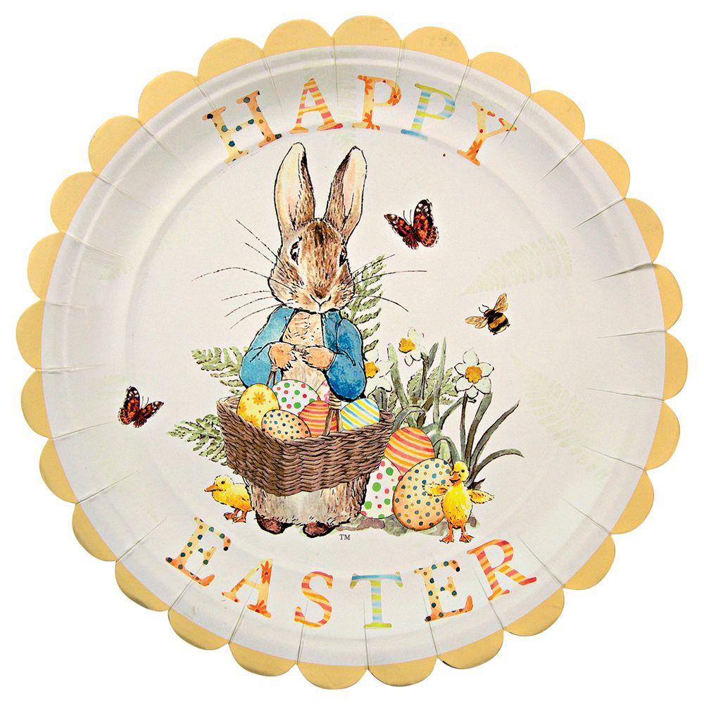 Meri Meri Peter Rabbit Party Plates, Multi, Pack of 12