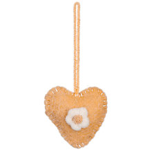 Buy John Lewis Felt Heart Decoration, Yellow Online at johnlewis.com