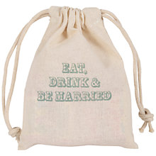 Buy Eat, Drink and Be Married Love Hearts Sweet Bag, 70g Online at johnlewis.com
