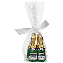 Buy Mini Milk Chocolate Champagne Bottles Bag, 30g Online at johnlewis.com