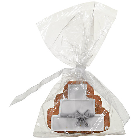 Buy Image On Food Wedding Cake Iced Gingerbread, 30g Online at johnlewis.com