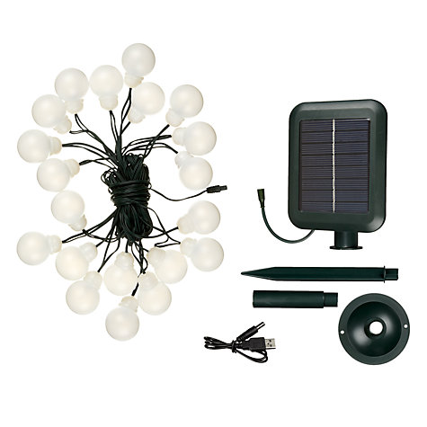 Buy The Solar Centre Everbright Solar LED Party Line Lights, White, x20 Online at johnlewis.com