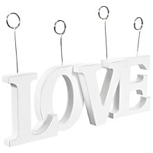 Buy John Lewis Love Photo Holder, White Online at johnlewis.com