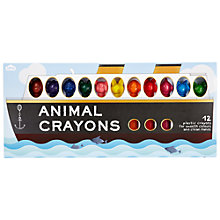 Buy Animal Crayons in a Boat, Pack of 12 Online at johnlewis.com