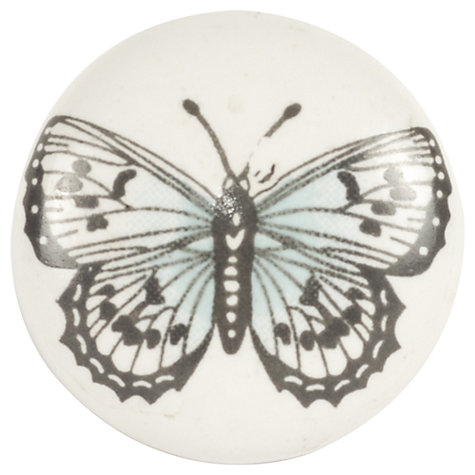 Buy Bombay Duck Butterfly Ceramic Cupboard Knob, White, Dia.35mm Online at johnlewis.com