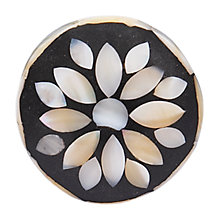 Buy Bombay Duck Mother of Pearl Cupboard Flower Knob, Black, Dia.35mm Online at johnlewis.com
