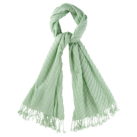 Buy CC Pleated Scarf, Mint Online at johnlewis.com
