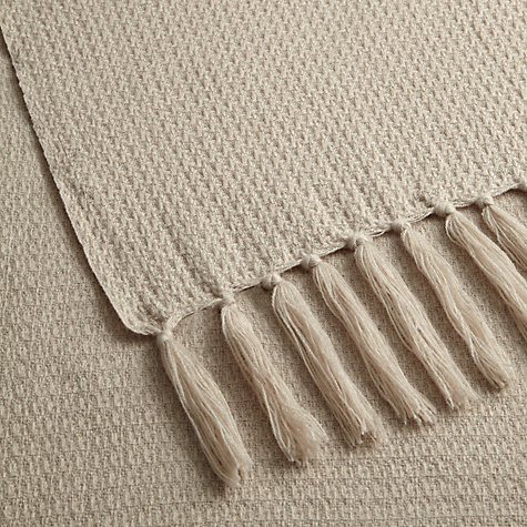 Buy John Lewis Roma Chenille Throw, Cassis Online at johnlewis.com