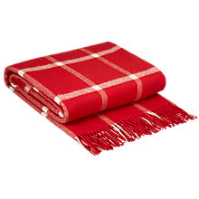 Buy Bronte Massif Check Lambswool Throw, Red, L185 x W140cm Online at johnlewis.com