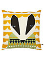 Donna Wilson Printed Badger Cushion, Yellow Multi