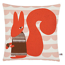 Buy Donna Wilson Printed Squirrel Cushion, Orange Online at johnlewis.com