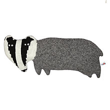 Buy Donna Wilson Creatures Edgar the Badger Cushion, Grey Online at johnlewis.com