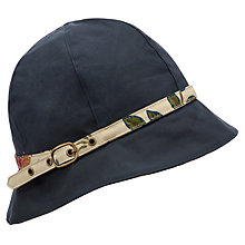 Buy Barbour Summer Wax Cloche Hat, Navy, Medium Online at johnlewis.com