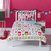 Buy little home at John Lewis Kaleidescope Owl Single Duvet Cover Set, Multi Online at johnlewis.com