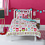 little home at John Lewis Kaleidoscope Owl Single Duvet Cover and Pillowcase Set, Multi