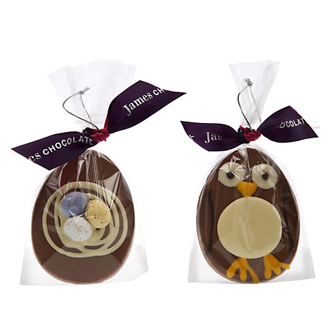Buy James Chocolates Chocolate Hanging Eggs, 35g, Assorted Online at johnlewis.com
