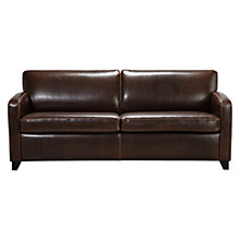 Buy John Lewis Colby Large PU Leather Sofa, Chocolate Online at johnlewis.com