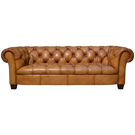 Buy John Lewis Todd Grand Leather Chesterfield Sofa Online at johnlewis.com