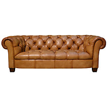 Buy John Lewis Todd Large Leather Chesterfield Sofa Online at johnlewis.com