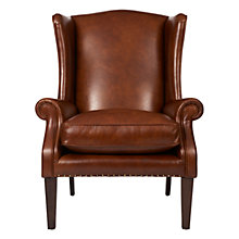 Buy John Lewis Charles Leather Armchair, London Saddle Online at johnlewis.com