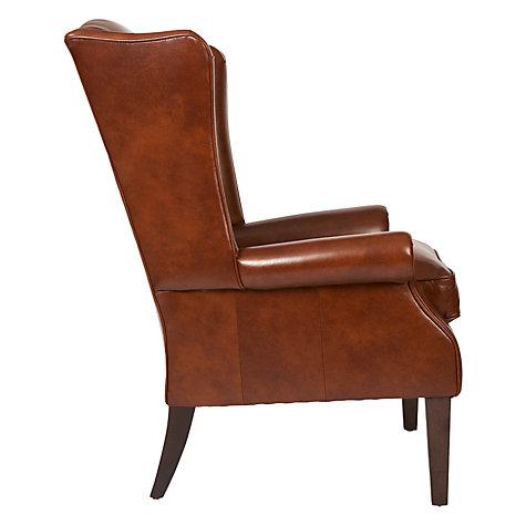 Buy John Lewis Charles Leather Armchair London Saddle John Lewis