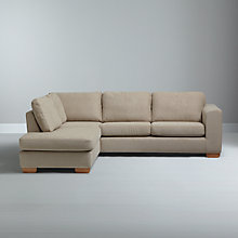 Buy John Lewis Felix LHF Chaise Corner Sofa with Light Legs, Elena Mocha Online at johnlewis.com
