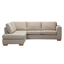 Buy John Lewis Felix LHF Corner Chaise End Sofa with Light Legs, Elena Mocha Online at johnlewis.com