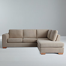 Buy John Lewis Felix RHF Chaise Corner Sofa with Light Legs, Elena Mocha Online at johnlewis.com
