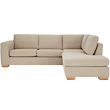 Buy John Lewis Felix RHF Corner Chaise End Sofa with Light Legs, Elena Mocha Online at johnlewis.com