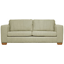 Buy John Lewis Felix Large Sofa with Light Legs, Elena Mocha Online at johnlewis.com