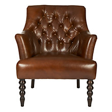 Buy John Lewis Highlands Armchair, Brighton Leather Online at johnlewis.com