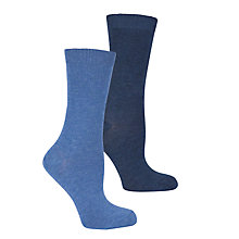 Buy John Lewis Plain Ankle Socks, Pack of 2 Online at johnlewis.com