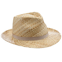 Buy John Lewis Italian Straw Trilby Hat Online at johnlewis.com