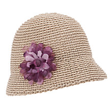 Buy John Lewis Knitted Italian Cloche Hat, Natural Online at johnlewis.com