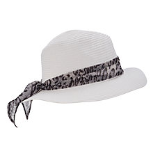 Buy John Lewis Animal Tie Trilby, White Online at johnlewis.com
