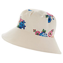 Buy Joules Kinsey Reversible Cotton Sun Hat, Cream Online at johnlewis.com