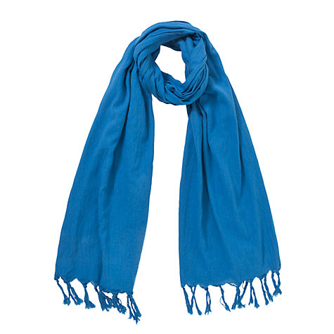 Buy Kin by John Lewis Cotton Fringed Scarf Online at johnlewis.com
