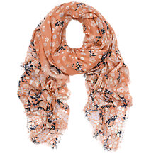 Buy Mulberry Floral Gecko Silk Mix Scarf, Peach Multi Online at johnlewis.com
