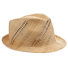 Buy John Lewis Striped Fedora Online at johnlewis.com